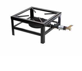 stoličkový gastro plynový vařič 38x38x20 9,2 kW smalt