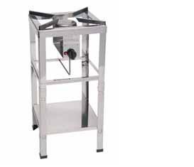 stoličkový gastro plynový vařič s podstavou 40x40x86 10 kW