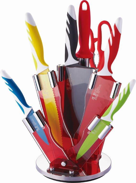 titanové nože 8 dílná sada + stojan zdarma
